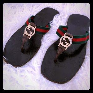 """Gucci """"GG"""" Web Sandal"""